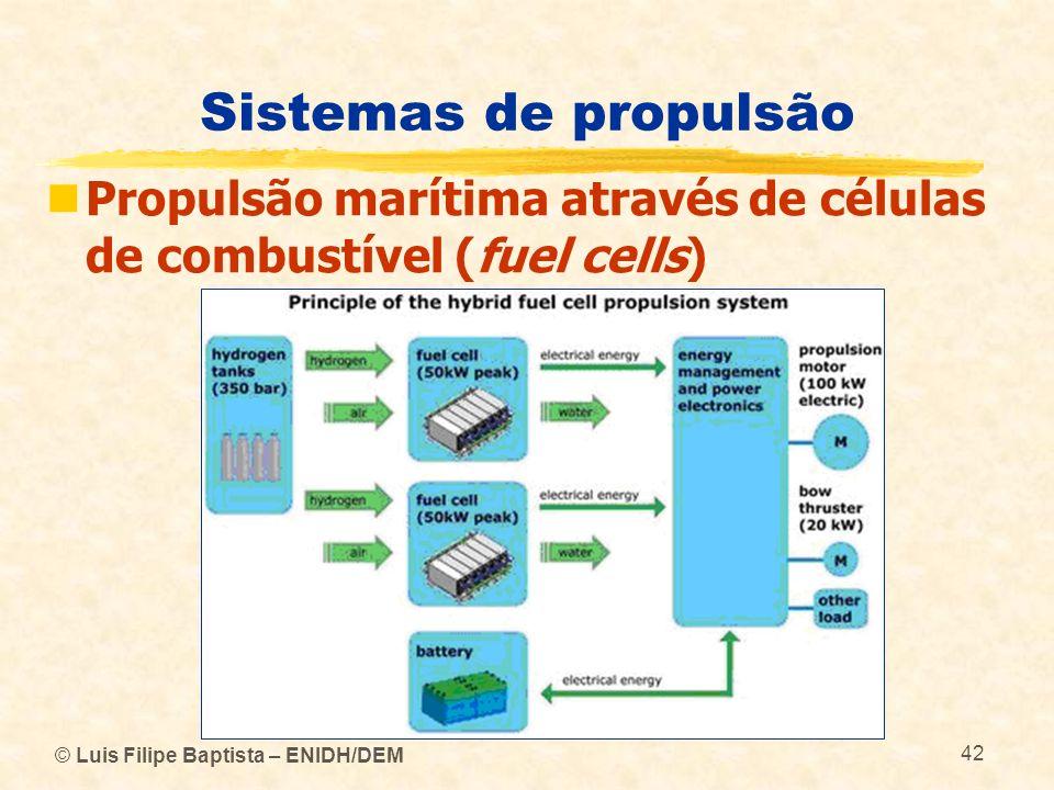 Sistemas de propulsão Propulsão marítima através de células de combustível (fuel cells) © Luis Filipe Baptista – ENIDH/DEM.