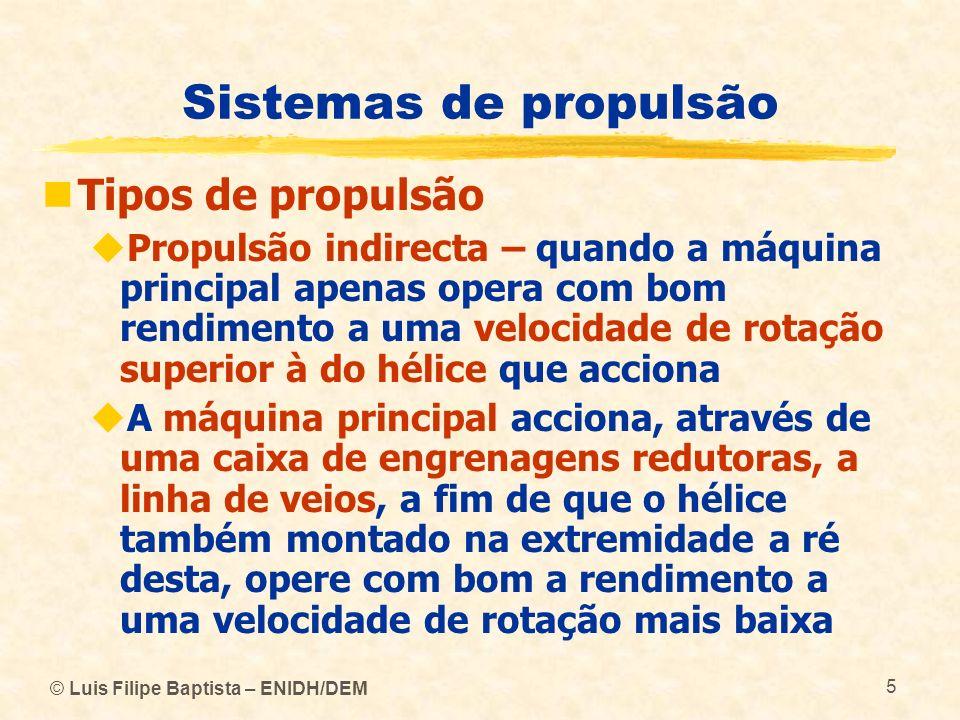 Sistemas de propulsão Tipos de propulsão
