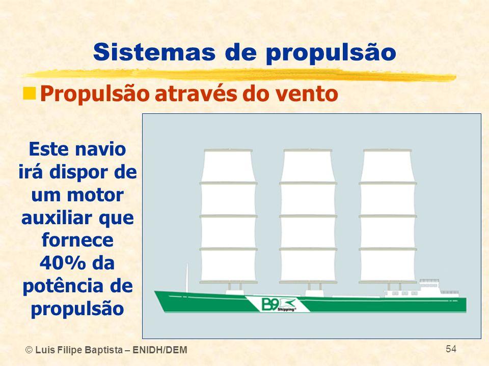 Sistemas de propulsão Propulsão através do vento