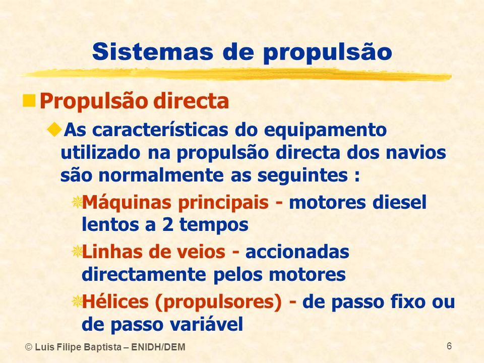 Sistemas de propulsão Propulsão directa