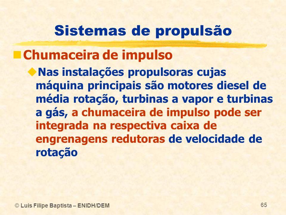 Sistemas de propulsão Chumaceira de impulso