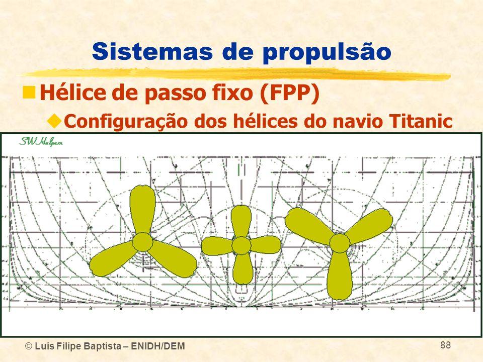 Sistemas de propulsão Hélice de passo fixo (FPP)