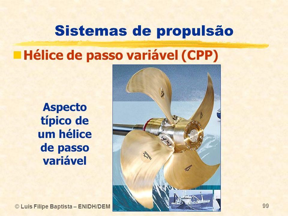 Aspecto típico de um hélice de passo variável