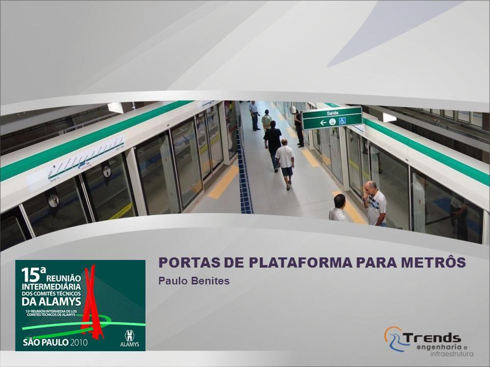 PORTAS DE PLATAFORMA PARA METRÔS