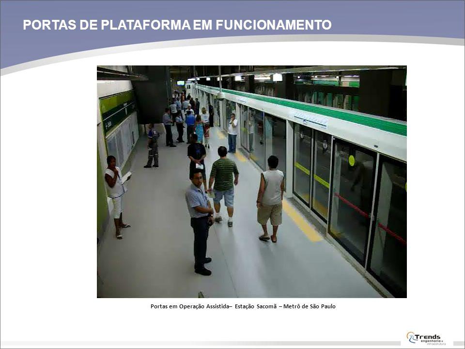 Portas em Operação Assistida– Estação Sacomã – Metrô de São Paulo