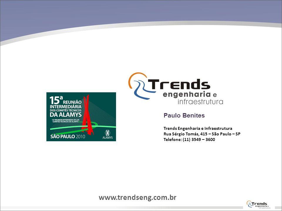 www.trendseng.com.br Paulo Benites Trends Engenharia e Infraestrutura
