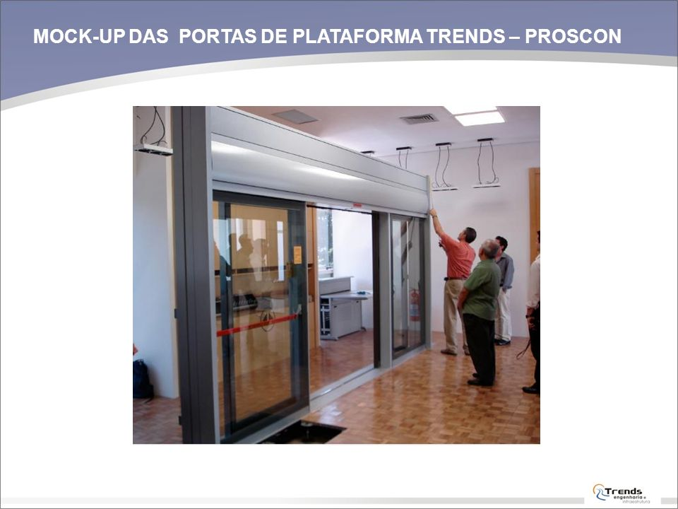 MOCK-UP DAS PORTAS DE PLATAFORMA TRENDS – PROSCON