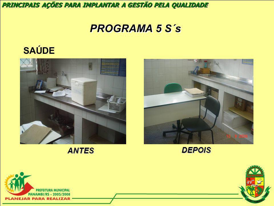 PROGRAMA 5 S´s SAÚDE ANTES DEPOIS