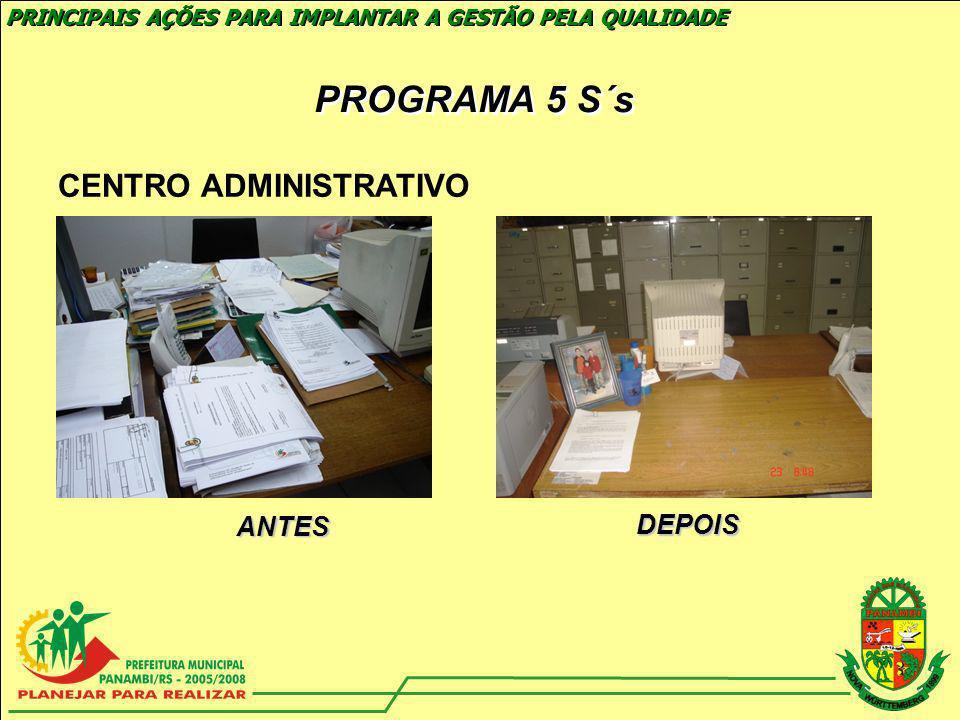 PROGRAMA 5 S´s CENTRO ADMINISTRATIVO ANTES DEPOIS