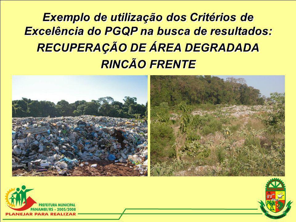 RECUPERAÇÃO DE ÁREA DEGRADADA