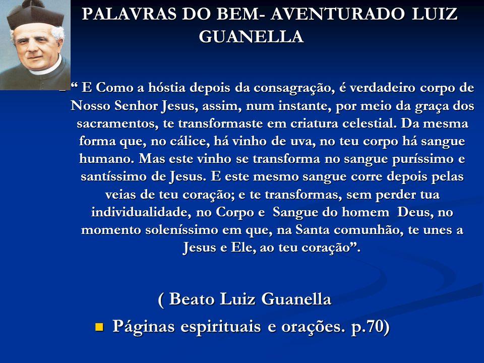 PALAVRAS DO BEM- AVENTURADO LUIZ GUANELLA