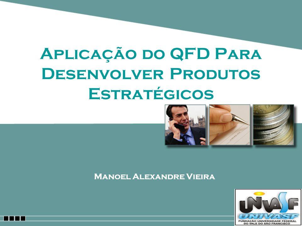Aplicação do QFD Para Desenvolver Produtos Estratégicos