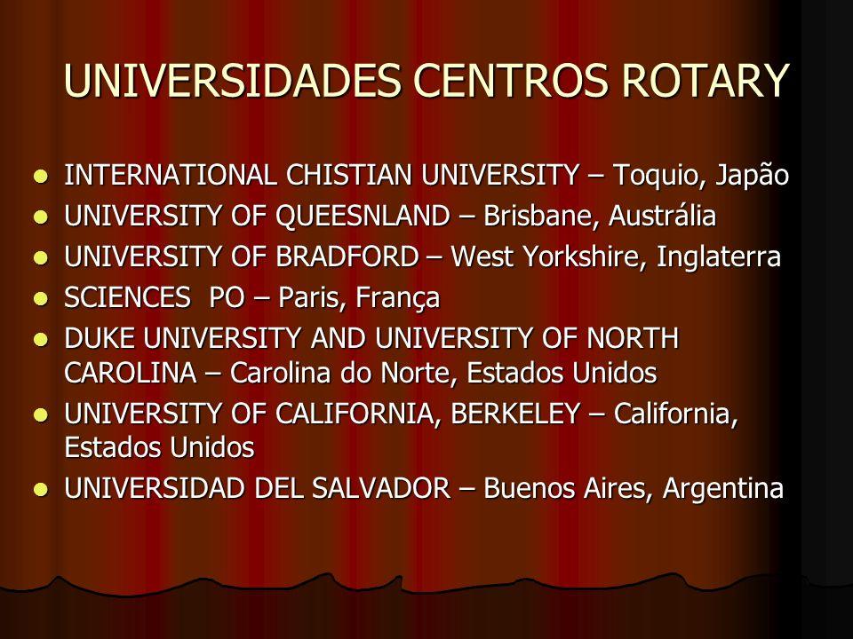 UNIVERSIDADES CENTROS ROTARY
