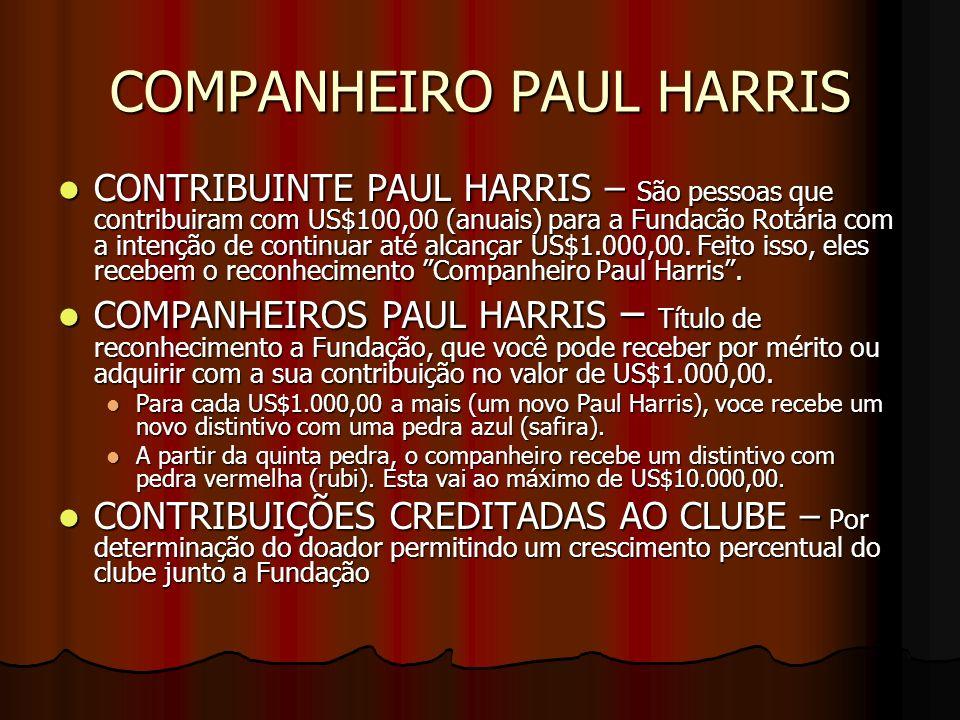 COMPANHEIRO PAUL HARRIS