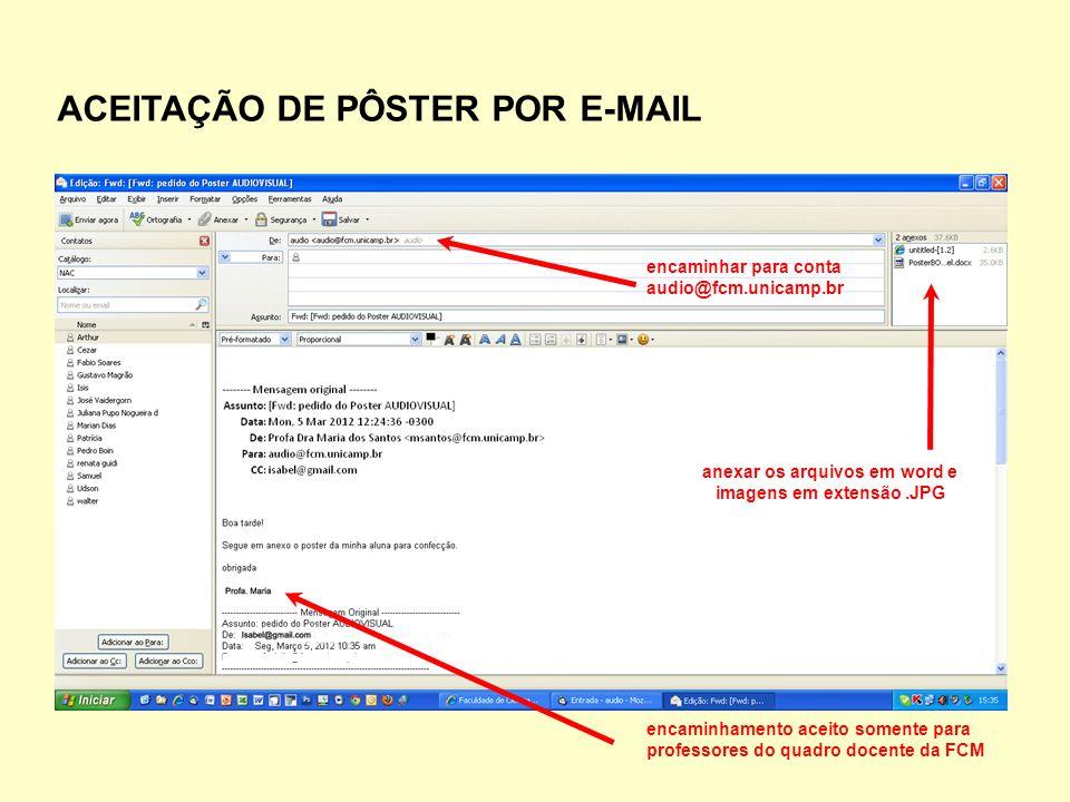 anexar os arquivos em word e imagens em extensão .JPG
