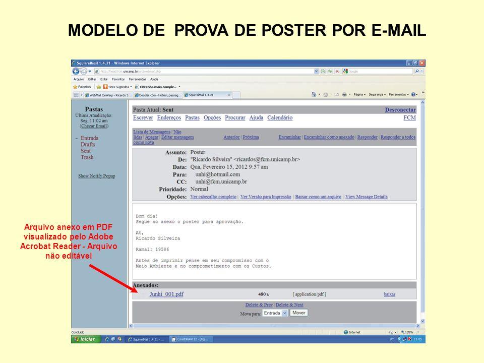 MODELO DE PROVA DE POSTER POR E-MAIL