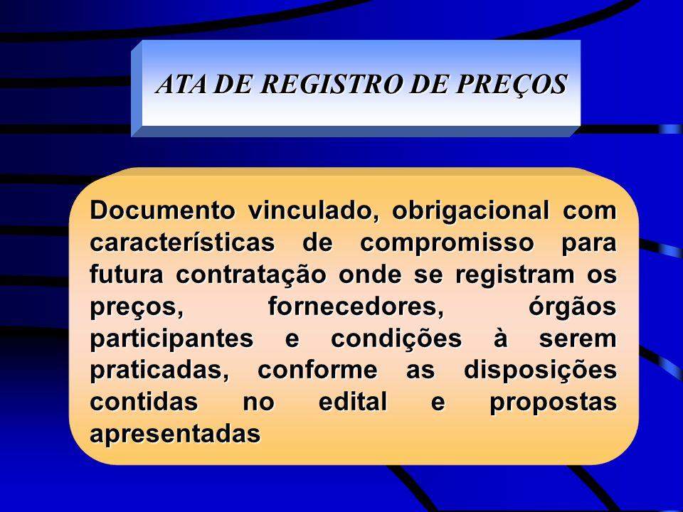 ATA DE REGISTRO DE PREÇOS