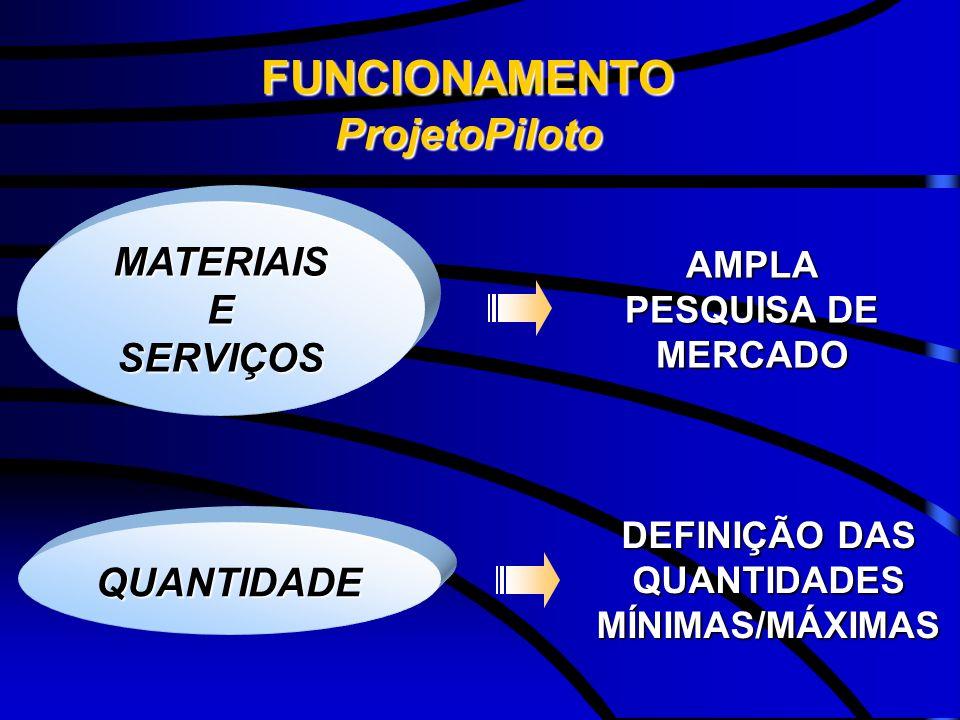 AMPLA PESQUISA DE MERCADO DEFINIÇÃO DAS QUANTIDADES MÍNIMAS/MÁXIMAS