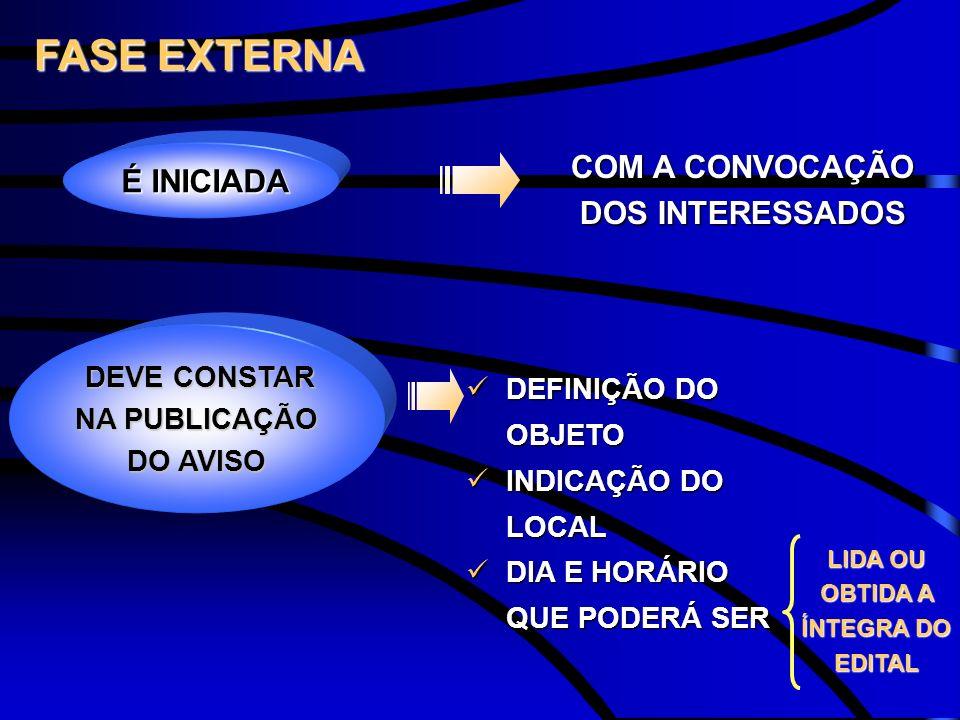 COM A CONVOCAÇÃO DOS INTERESSADOS LIDA OU OBTIDA A ÍNTEGRA DO EDITAL