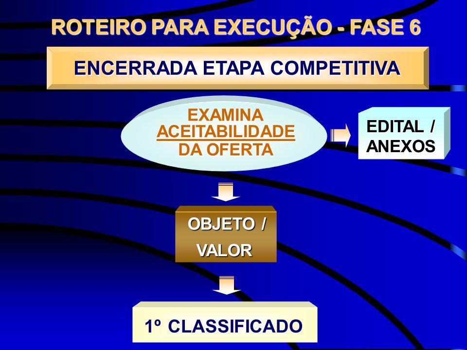ROTEIRO PARA EXECUÇÃO - FASE 6