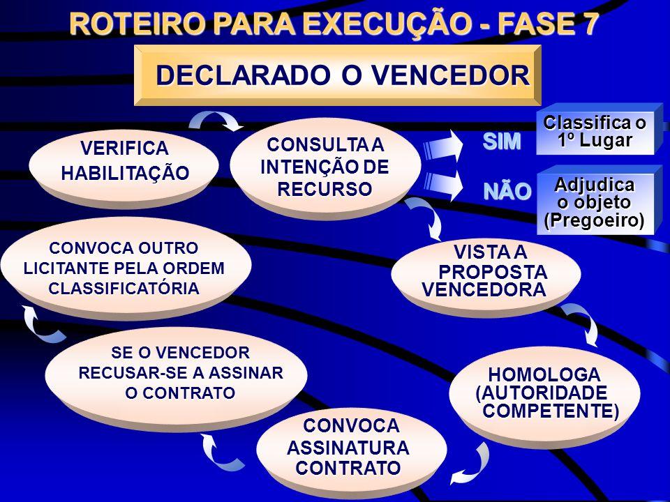 ROTEIRO PARA EXECUÇÃO - FASE 7