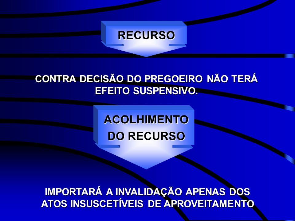 RECURSO ACOLHIMENTO DO RECURSO