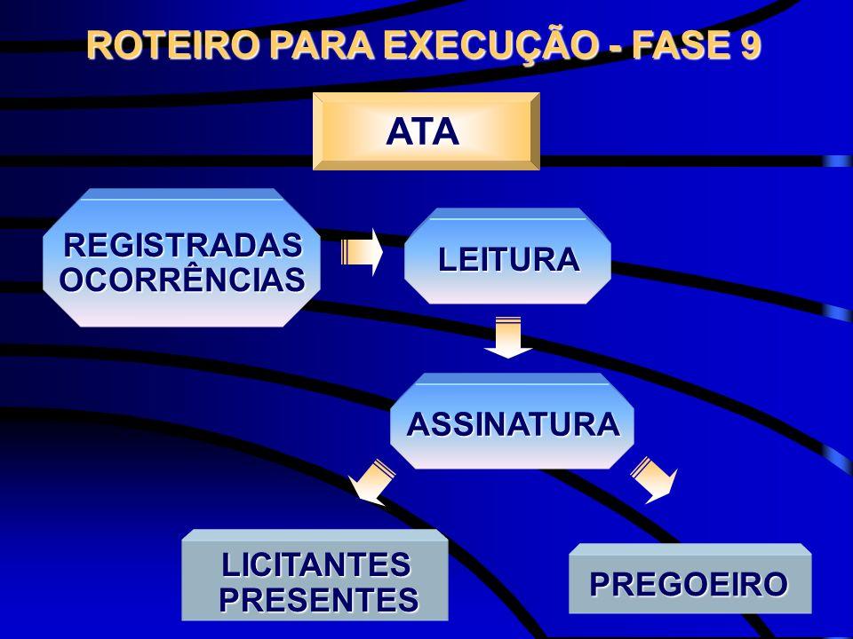 ROTEIRO PARA EXECUÇÃO - FASE 9
