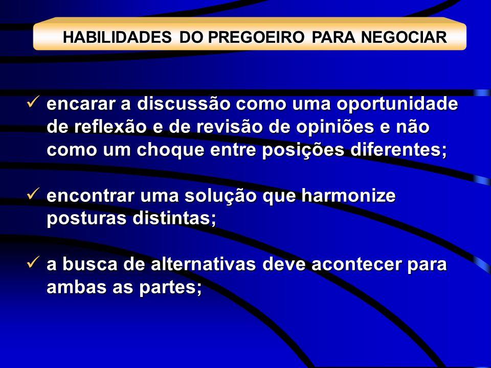HABILIDADES DO PREGOEIRO PARA NEGOCIAR
