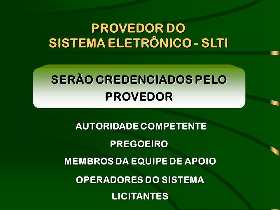PROVEDOR DO SISTEMA ELETRÔNICO - SLTI