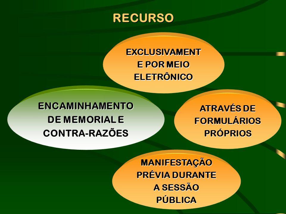 RECURSO ENCAMINHAMENTO DE MEMORIAL E CONTRA-RAZÕES