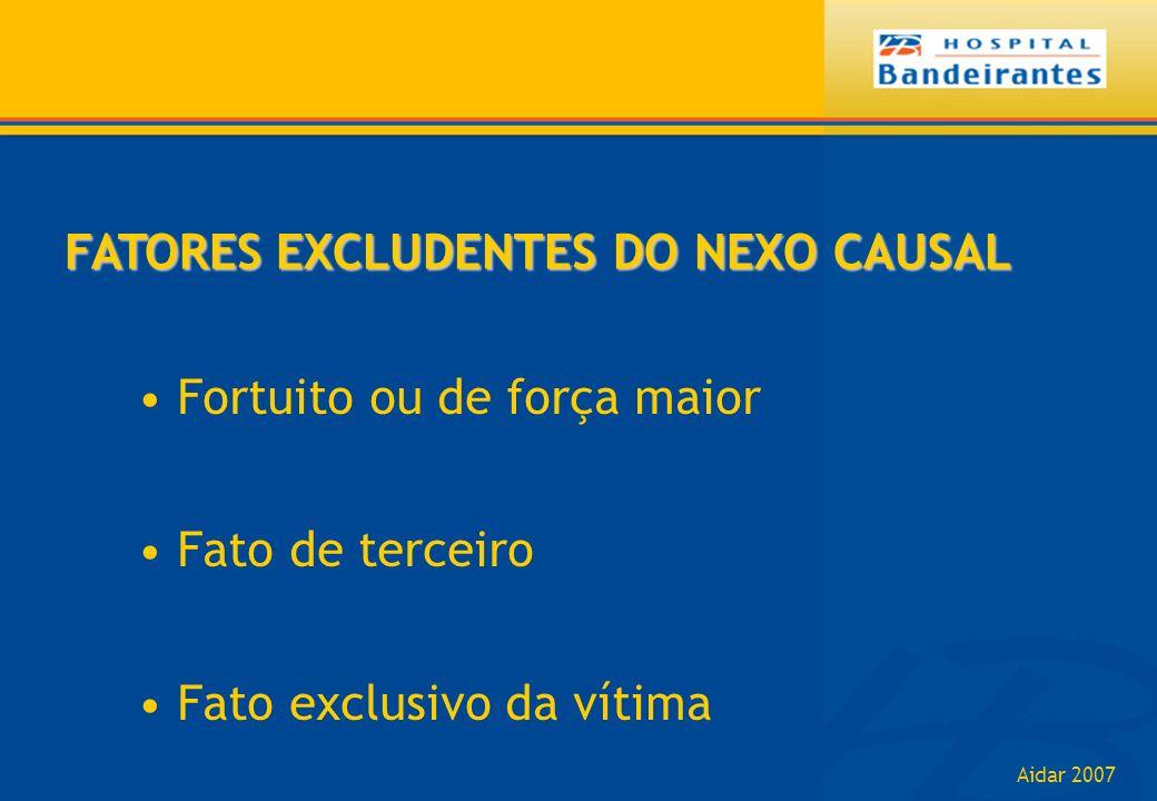 FATORES EXCLUDENTES DO NEXO CAUSAL