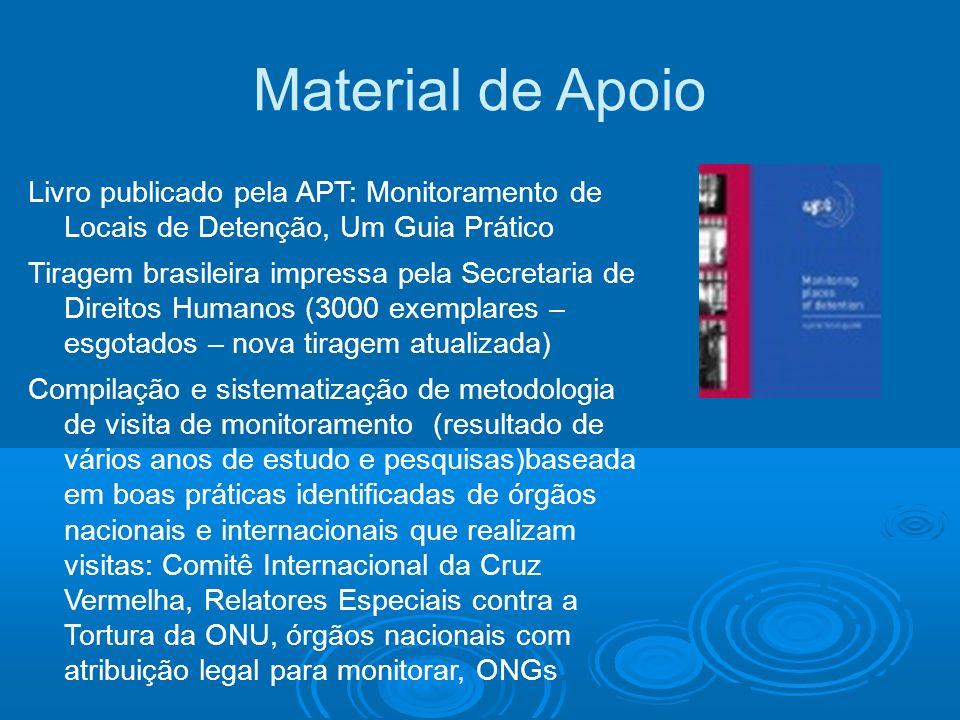 Material de Apoio Livro publicado pela APT: Monitoramento de Locais de Detenção, Um Guia Prático.