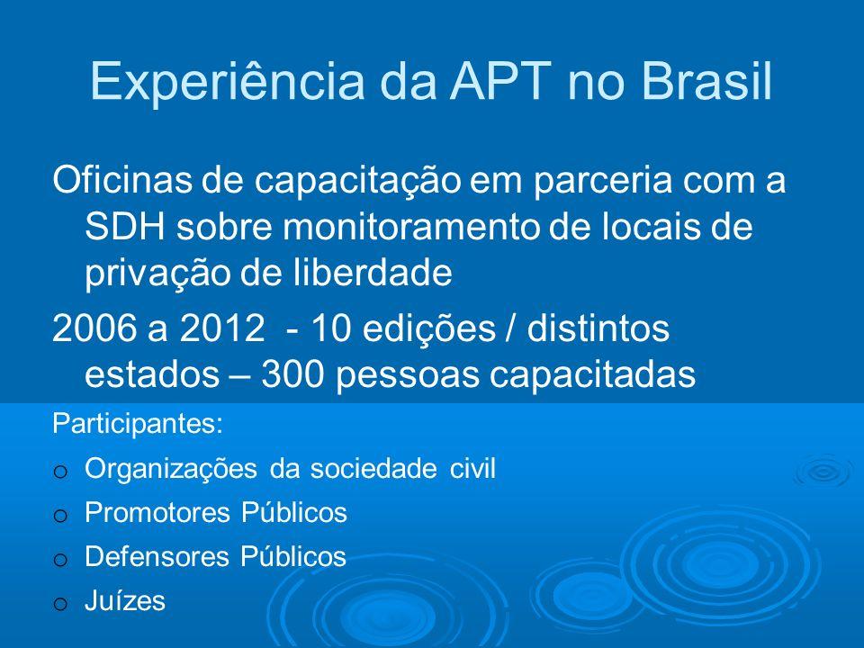 Experiência da APT no Brasil