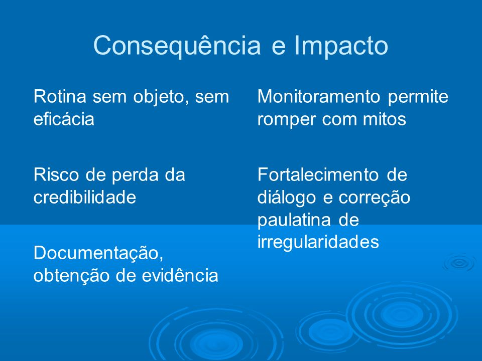 Consequência e Impacto