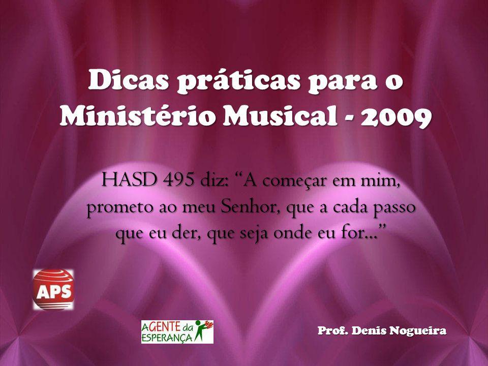 Dicas práticas para o Ministério Musical - 2009