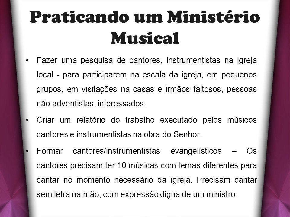 Praticando um Ministério Musical