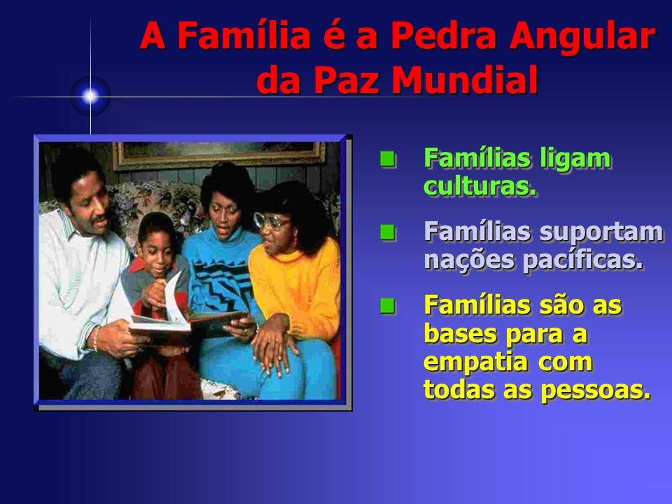 A Família é a Pedra Angular da Paz Mundial