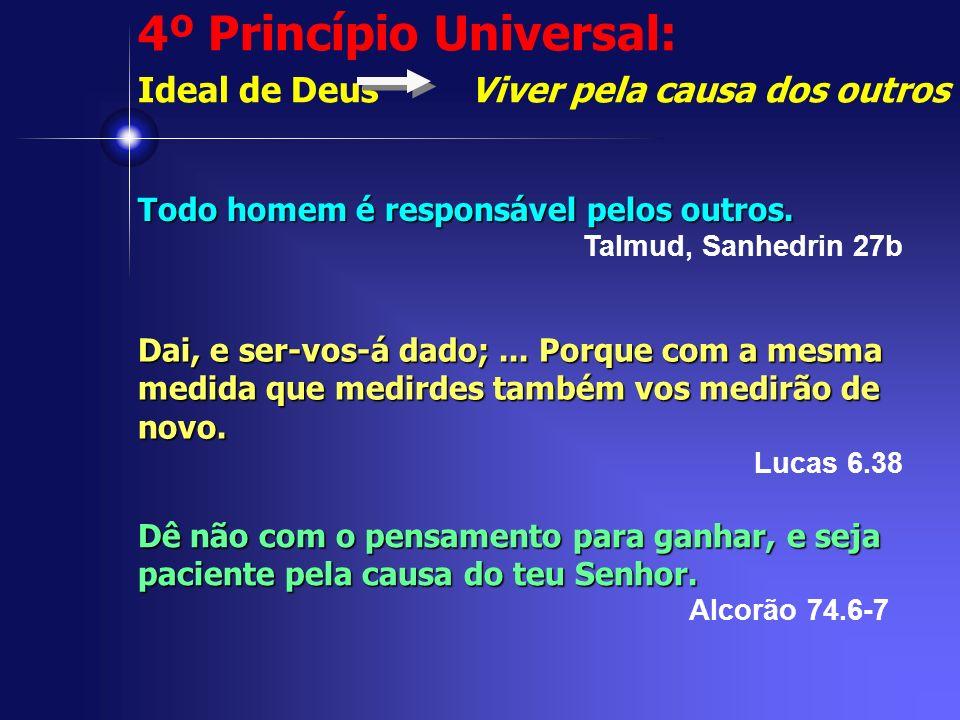 4º Princípio Universal: