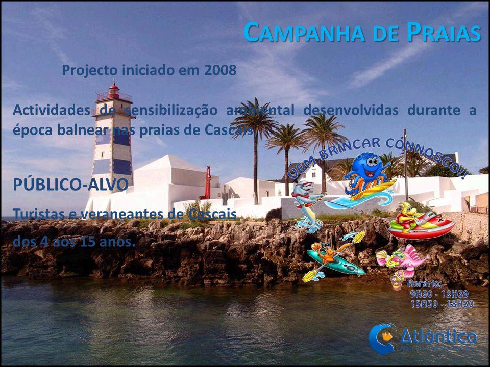 Campanha de Praias PÚBLICO-ALVO Projecto iniciado em 2008