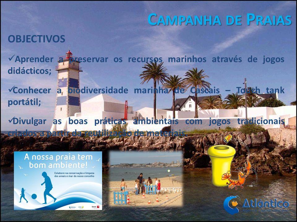 Campanha de Praias OBJECTIVOS
