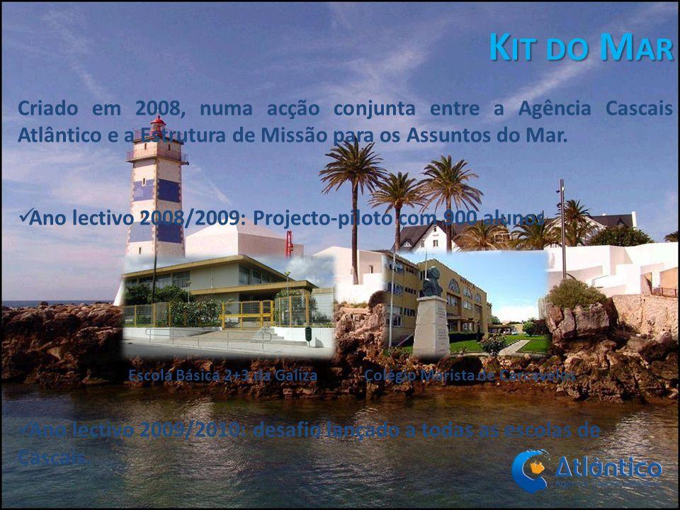 Kit do Mar Criado em 2008, numa acção conjunta entre a Agência Cascais Atlântico e a Estrutura de Missão para os Assuntos do Mar.