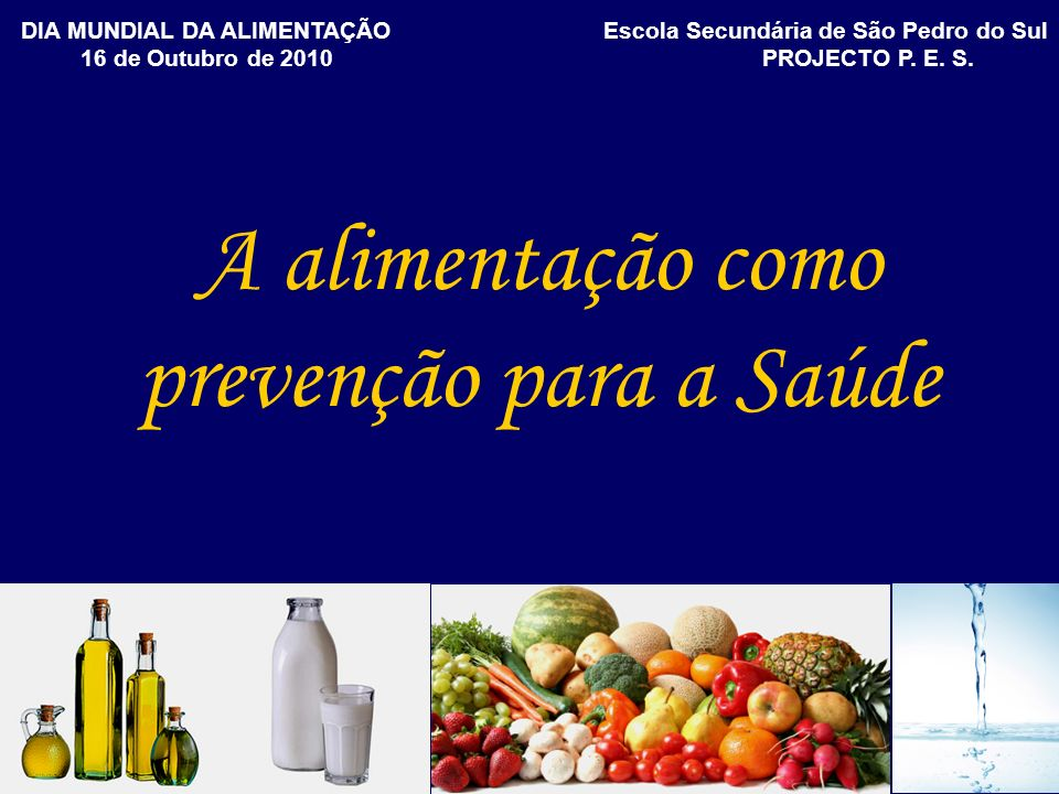 A alimentação como prevenção para a Saúde