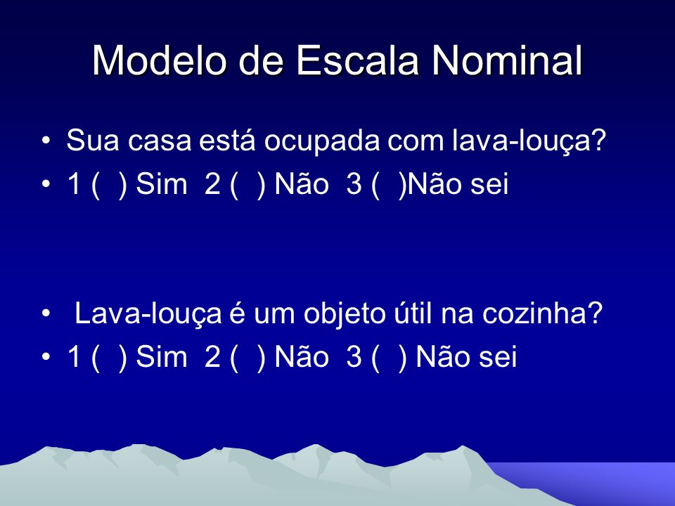 Modelo de Escala Nominal