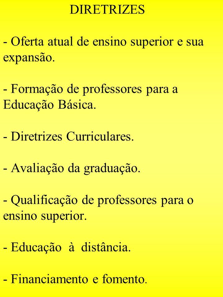 DIRETRIZES - Oferta atual de ensino superior e sua expansão