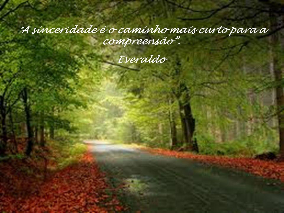 A sinceridade é o caminho mais curto para a compreensão . Everaldo