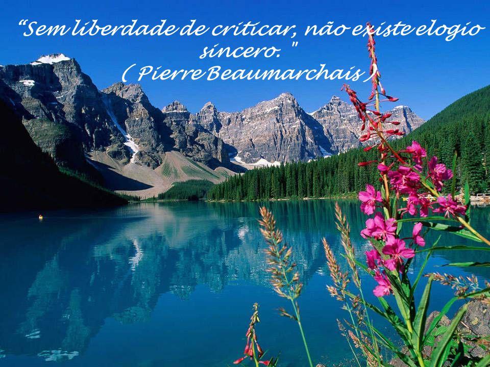 Sem liberdade de criticar, não existe elogio sincero