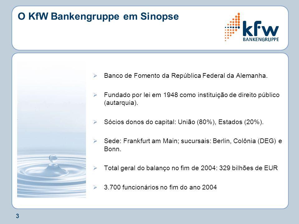 O KfW Bankengruppe em Sinopse