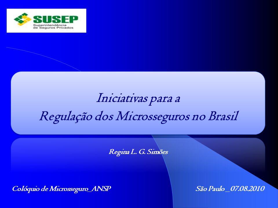Regulação dos Microsseguros no Brasil