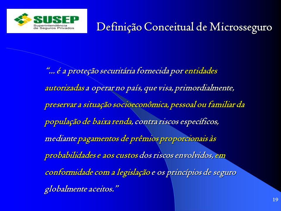 Definição Conceitual de Microsseguro