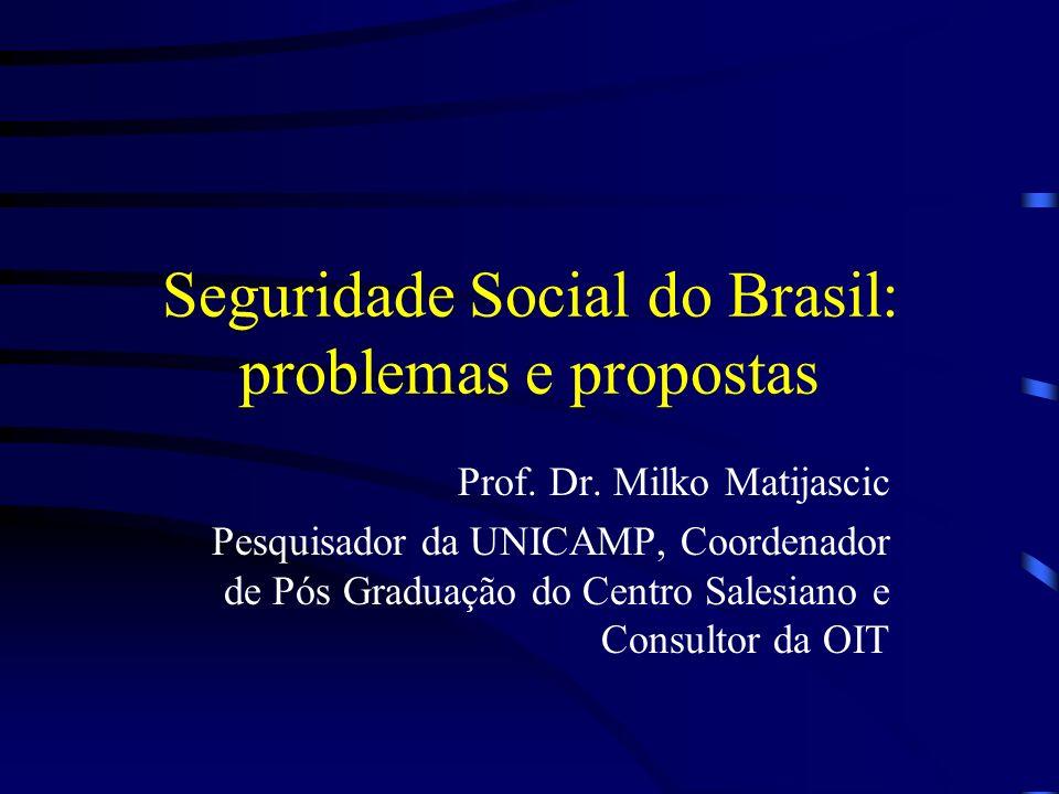 Seguridade Social do Brasil: problemas e propostas
